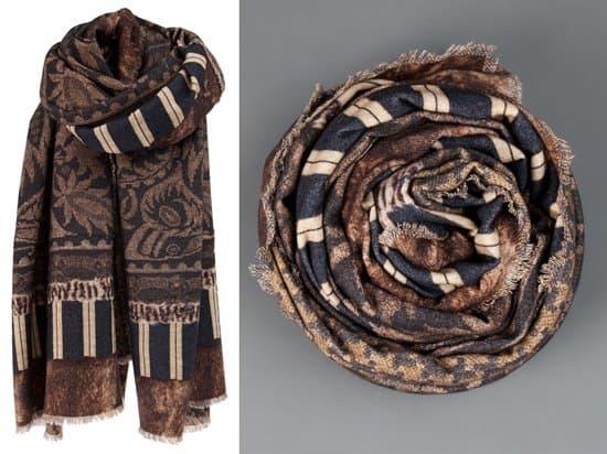 Pierre Louis-Mascia Fine woven scarf_brown