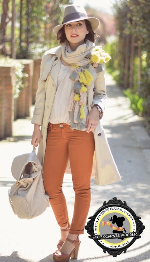 Valentine styled her cute multi-tasseled with hot jeans