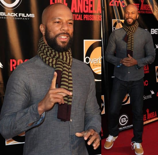 Common at the 'Free Angela and All Political Prisoners' premiere