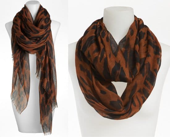 BP. Leopard Print Infinity and Long Scarf