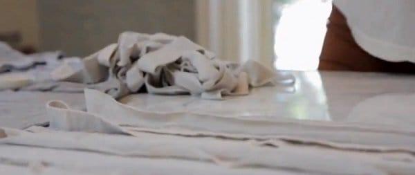 shredded t shirt scarves step 3