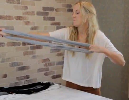 shredded t shirt scarves step 5