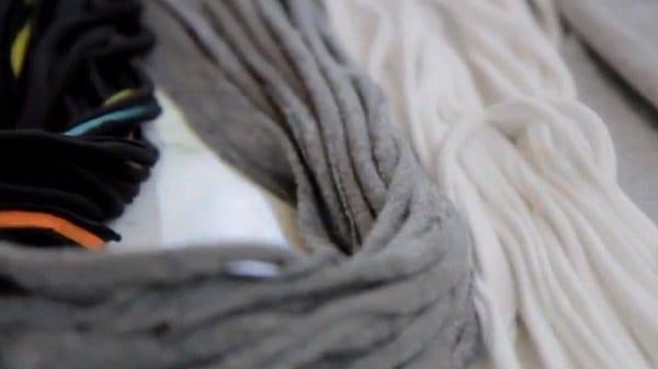 shredded t shirt scarves step 6