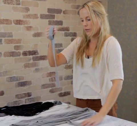 shredded t shirt scarves step 6b