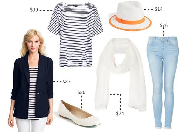 alessandra ambrosio nautical look for less