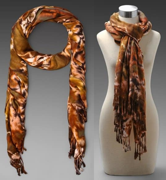 brightly twisted tie dye scarf in cheetah-horz