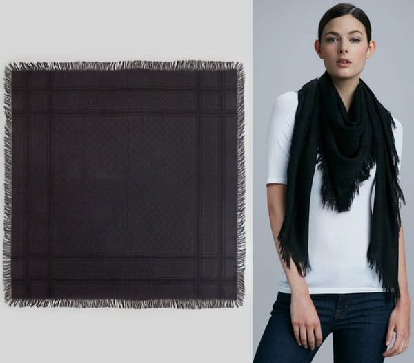 Gucci Cavendish Shawl in Black