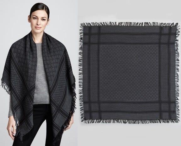 gucci gg pattern shawl-horz
