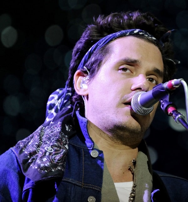John Mayer wears a bandanna as he performs live in concert at the Molson Canadian Amphitheatre, August 15, 2013