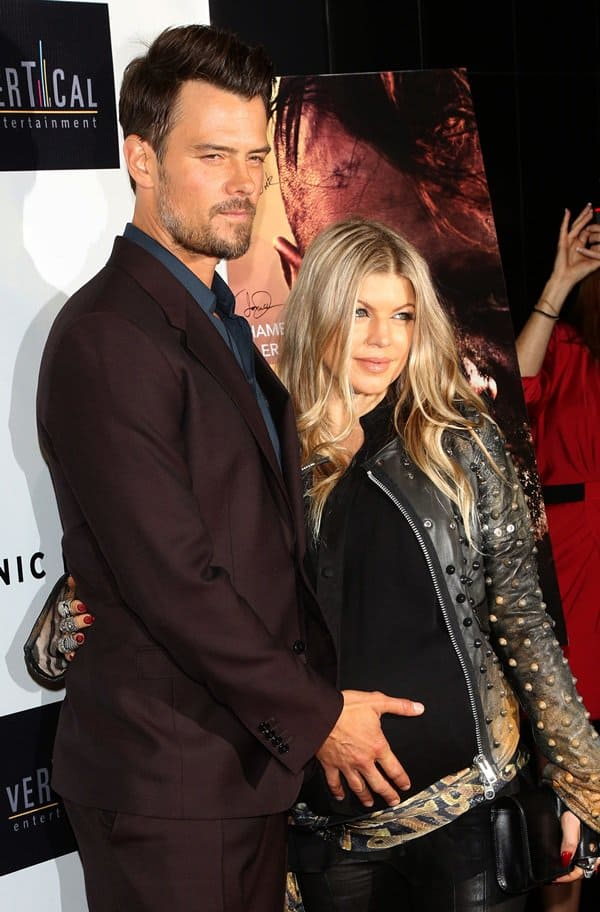 Josh Duhamel and Fergie attend the premiere of 'Scenic Route' at the Chinese 6 Theater in Hollywood on August 21, 2013