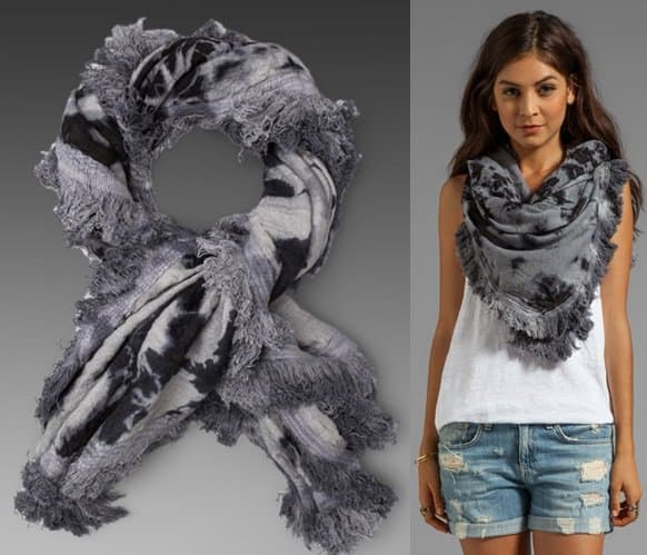 maison scotch  star scarf in tie dye-horz