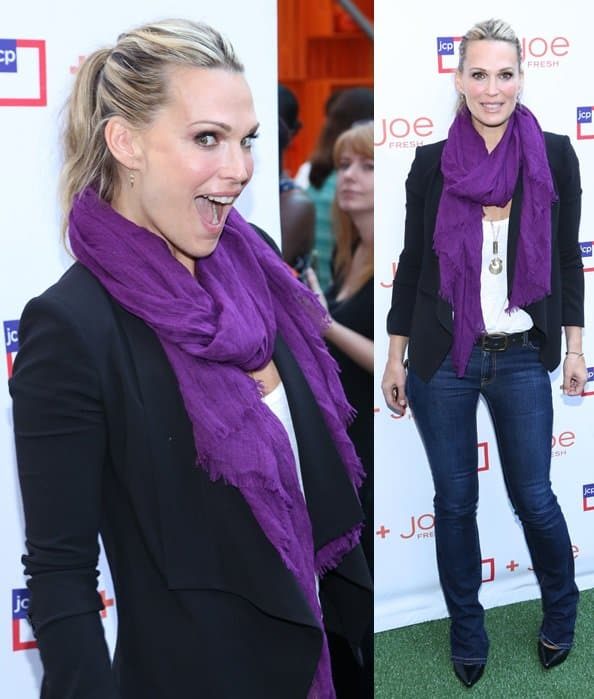 molly sims purple scarf jcpenney joe fresh kids event