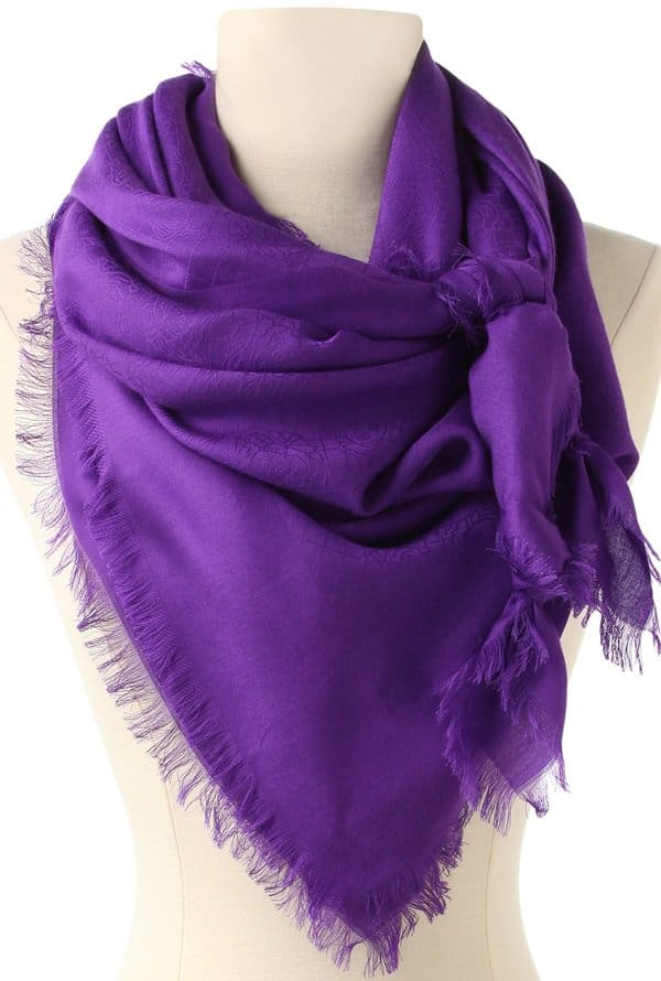 Versace Patterned Lenpur Scarf in Purple