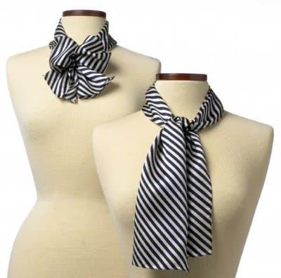 Wolfmark Saville Stripes Silk Scarf