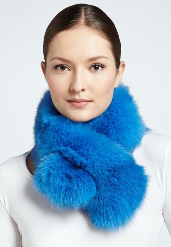 Adrienna Landau Bryan Boy Pull-Through Fur Scarf