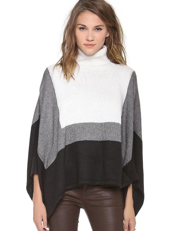 Ami Dans La Rue - Colorblock Poncho Sweater
