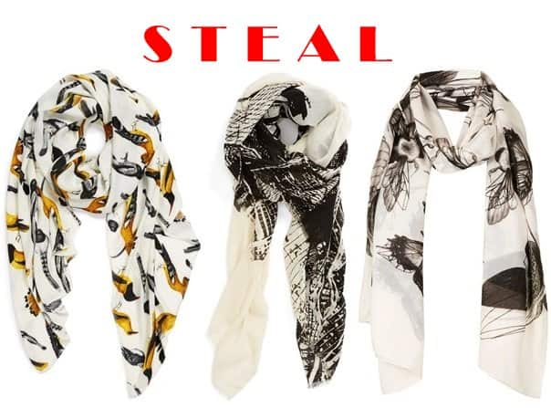 Echo Beacon's Birds Scarf / Echo Cities Oversized Scarf / Topshop Insect Print Scarf