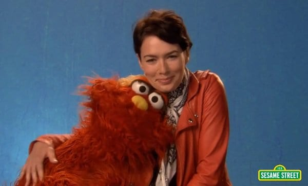 "Lena Headey and Murray discuss the word ""relax"" on Sesame Street"