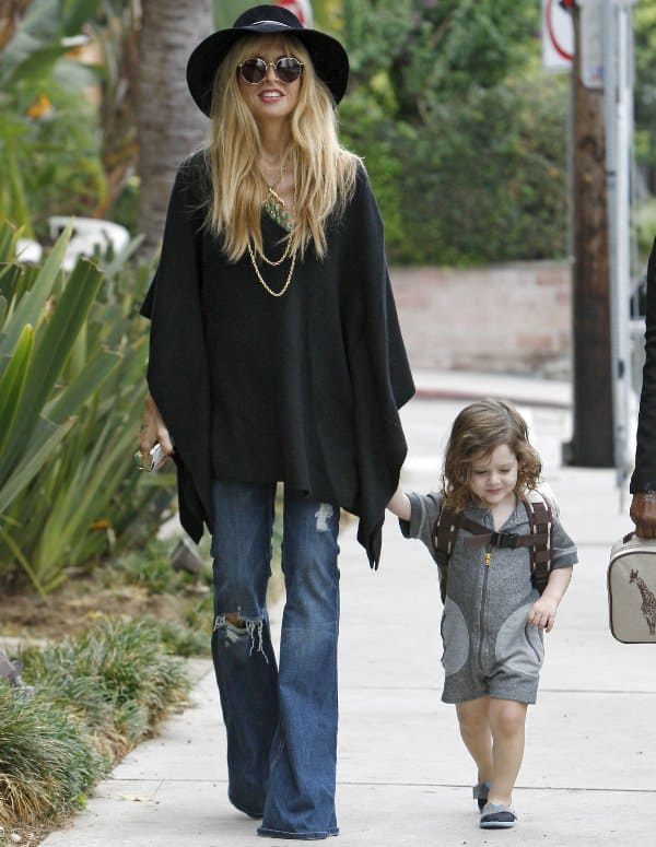 Rachel Zoe and her son Skyler Berman in West Hollywood, California, on September 25, 2013