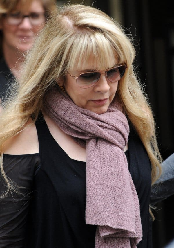 Stevie Nicks in pink scarf - BBC London
