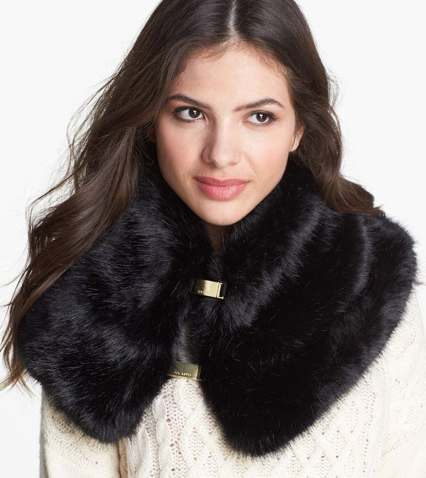 Ted Baker London - Faux Fur Collar