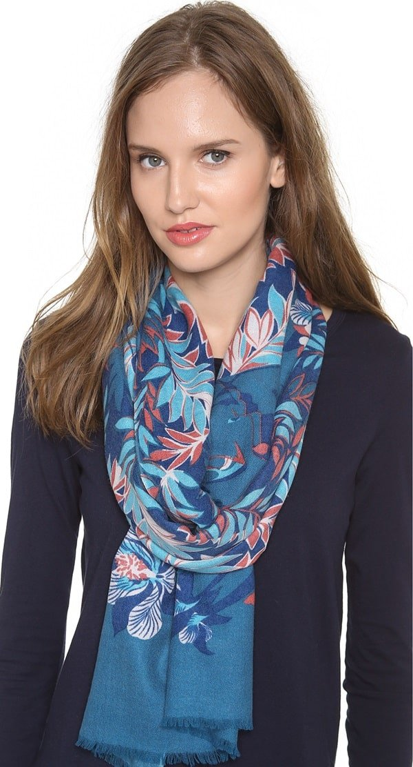 we are owls fallen cashmere scarf