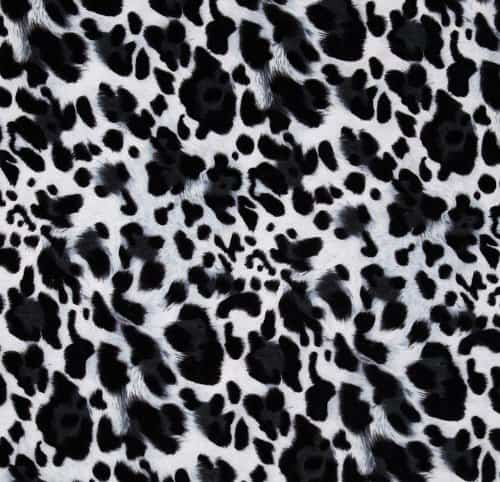 58 inch wide laguna stretch cotton jersey cow spots print