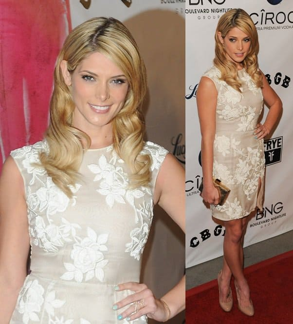 Ashley Greene debuts her blonde locks at the Los Angeles Premiere 'CBGB' at ArcLight Cinemas on October 1, 2013, in Hollywood, California