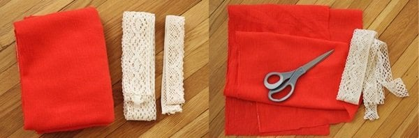 diy lace trimmed scarf a beautiful mess diy 2