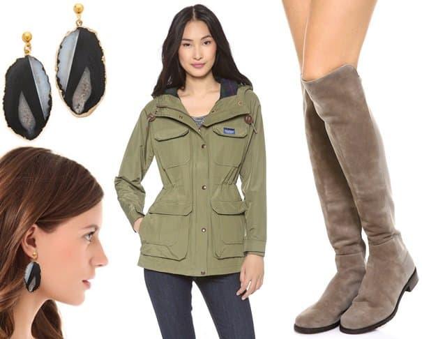 earrings pensfield jacket stuart weitzman boots