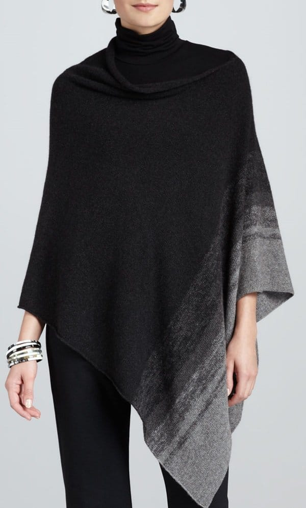 eileen fisher ombre striped poncho