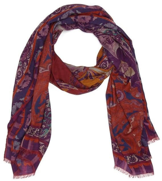 etro paisley modal and wool scarf