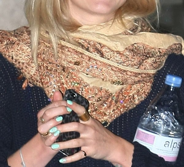 Fearne Cotton's beaded scarf