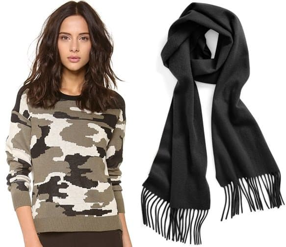 generation love camou sweater-nordstrom scarf