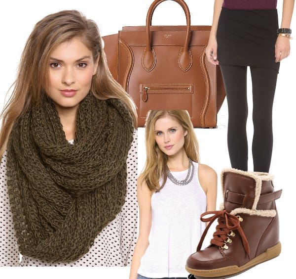 Look: Match Your Scarf with your Celine Bag - Tan/Brown