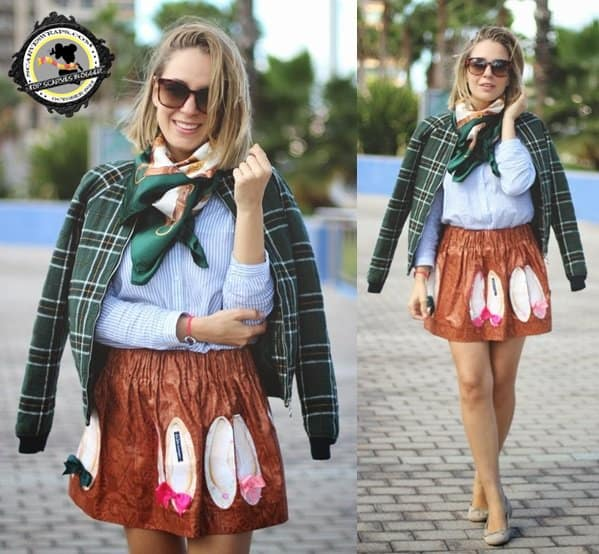 Priscila shows how to mix prints in fall