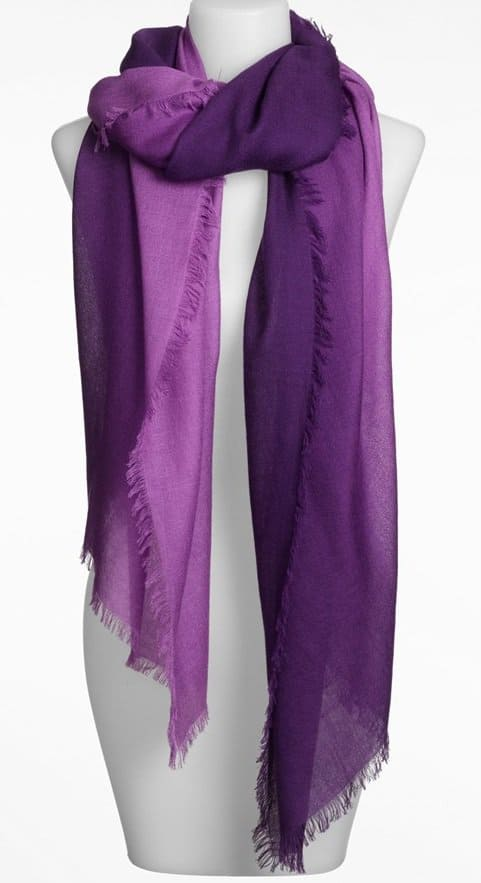 Ombre Eyelash Cashmere and Silk Wrap