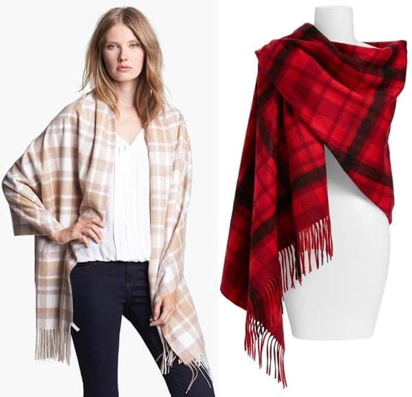 Plain Woven Cashmere Wrap