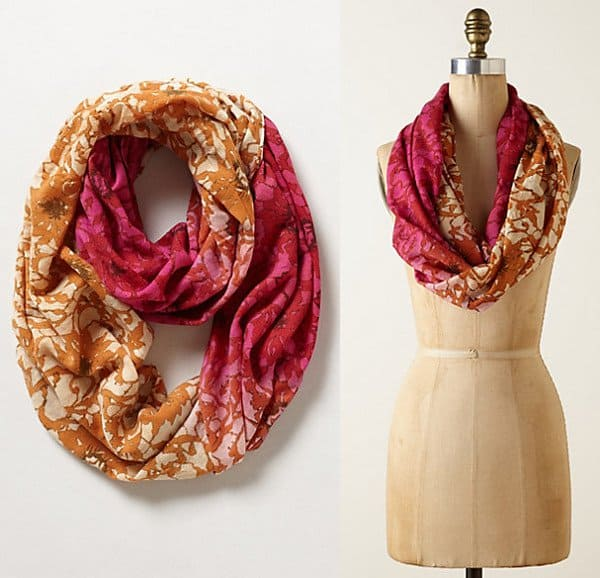 Ombre Lace Infinity Scarf