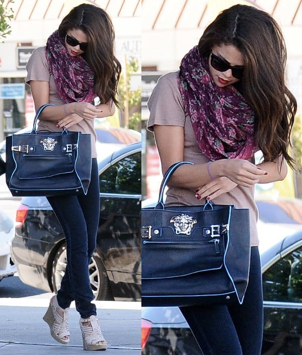 Selena Gomez grabs sushi at Kabuki Japanese restaurant in Encino, California, on September 28, 2013