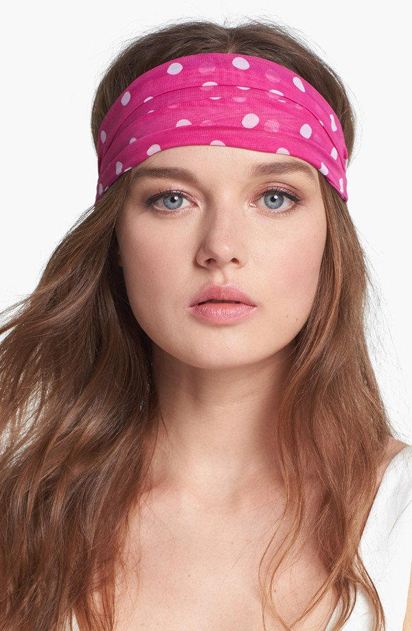 Tasha Polka Dot Head Wrap in Pink
