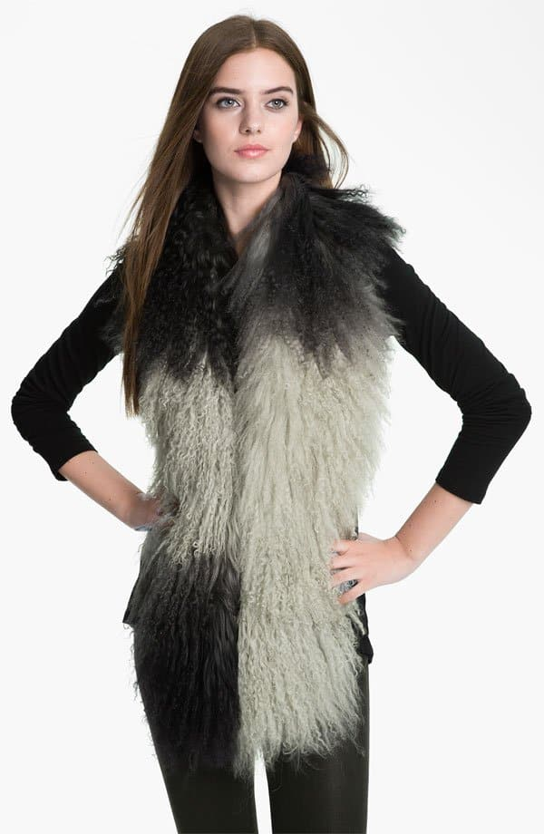 Toria Rose Genuine Lamb's Fur Boa
