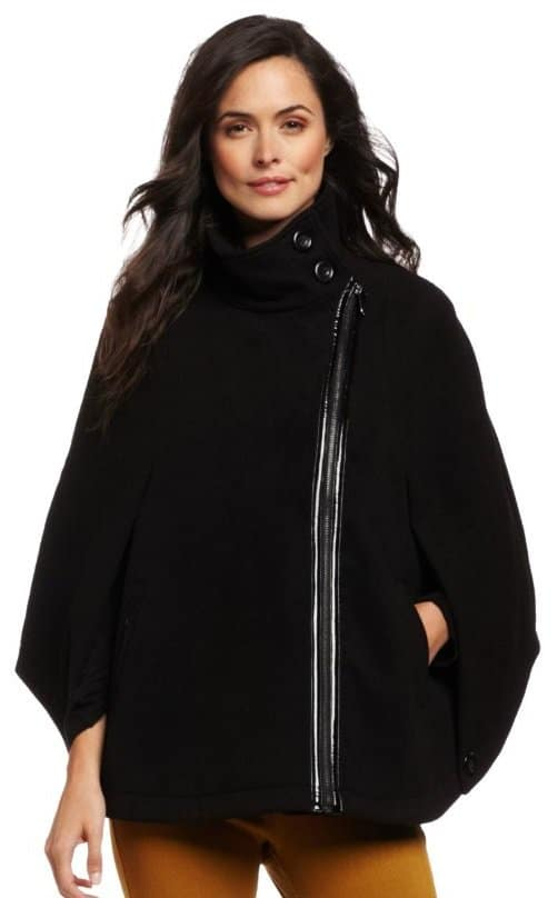 via spiga patent trim cape