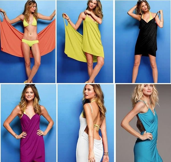 victoria secret bikini cover up wrap dress short