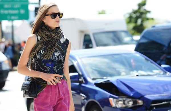 cbraschgivenchy tommy ton street snap new york may 20 2013 print on print scarf style