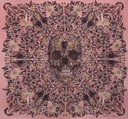 damien hirst alexander mcqueen 10th anniversary skull scarf