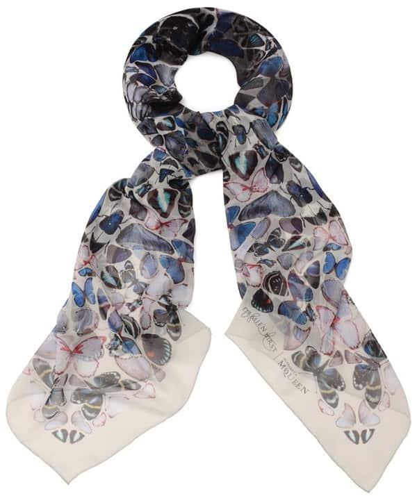 damien hirst alexander mcqueen butterfly skull scarf 2