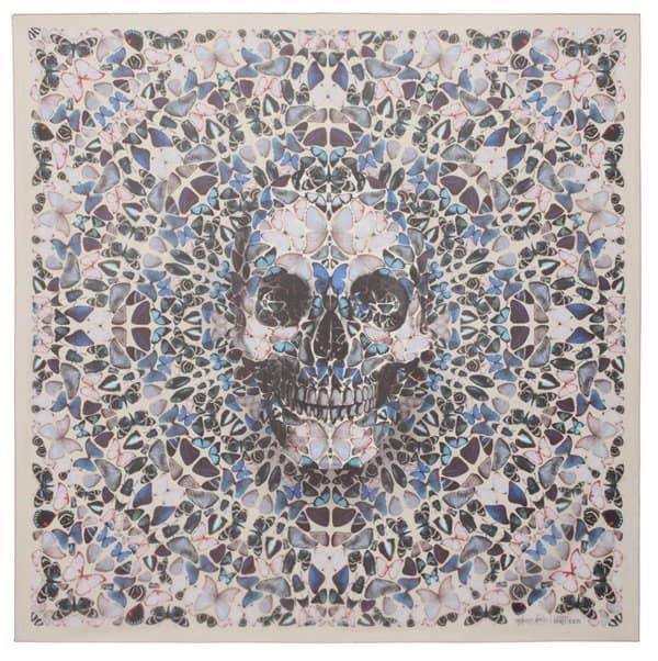 damien hirst alexander mcqueen butterfly skull scarf