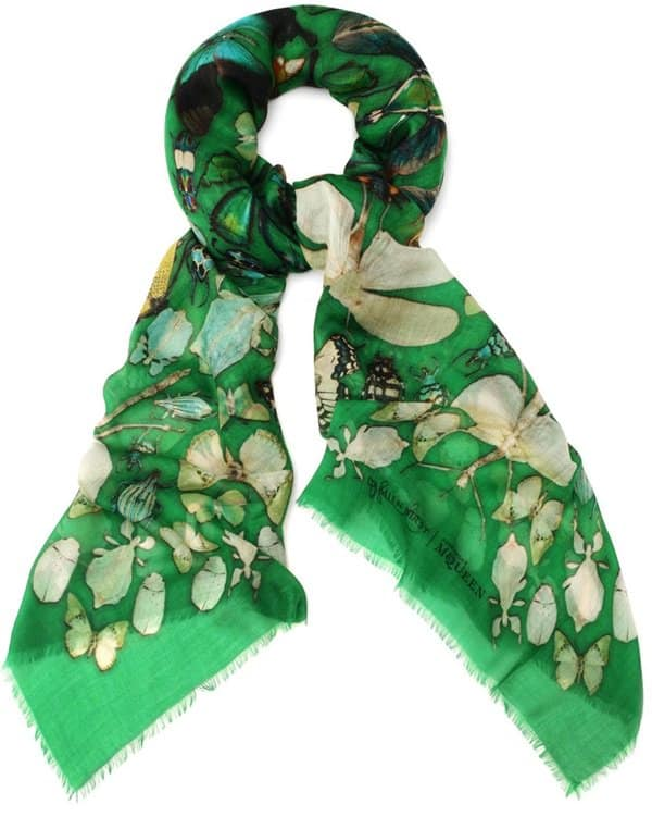 damien hirst alexander mcqueen insect cashmere scarf 2