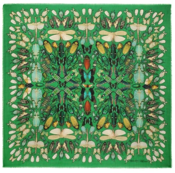 damien hirst alexander mcqueen insect cashmere scarf
